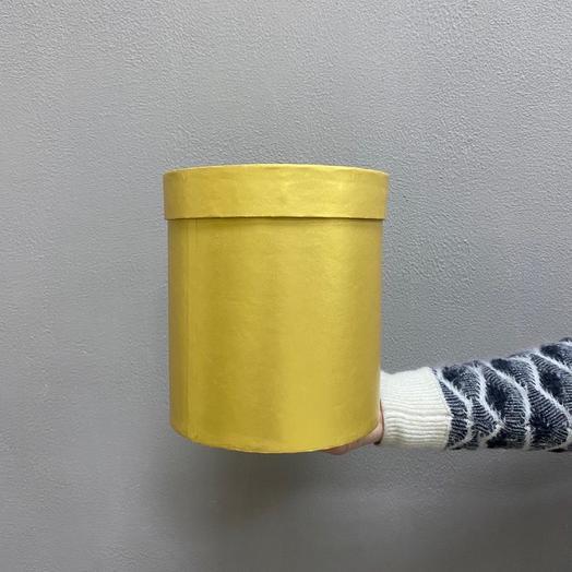 Шляпная коробка средняя (Жёлтое золото)