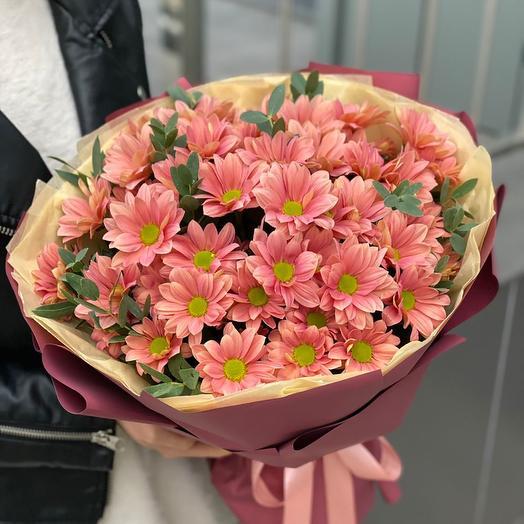 Букет из хризантем Карамель