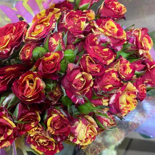 Роза кустовая(замена красными,белыми, оранжевыми)