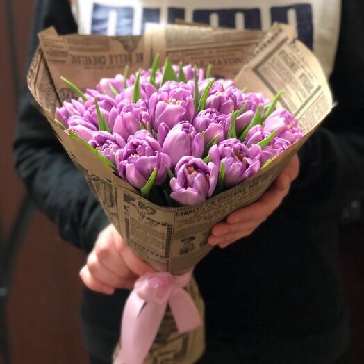 Букет Тюльпаны Пионовидные