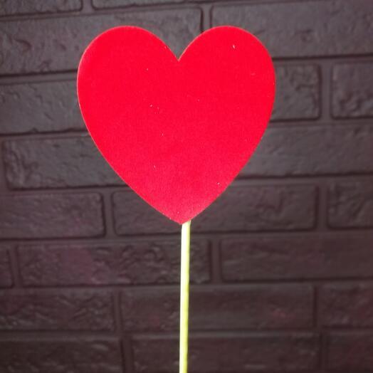 Топпер «сердце» красный