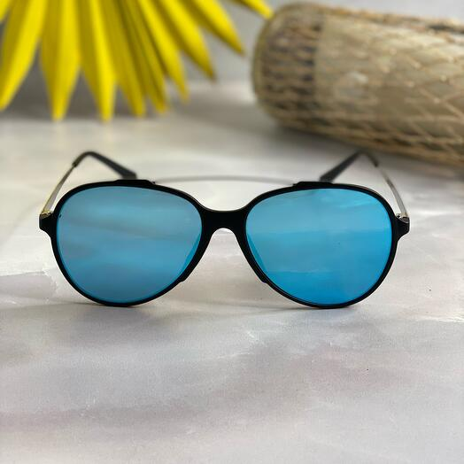 Очки-авиаторы с голубыми линзами