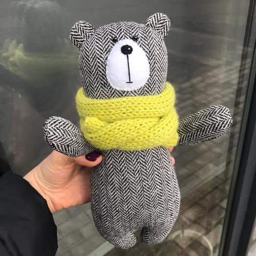 Teddy bear in a scarf