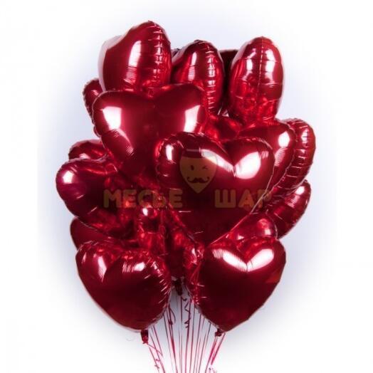 Набор из 15 сердец