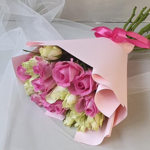 """Монобукет из роз """"Pink"""""""