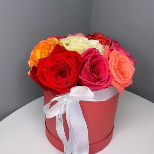 Розы 9шт в коробке