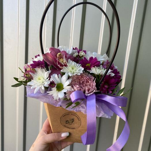 Цветы в сумочке «Шабо»