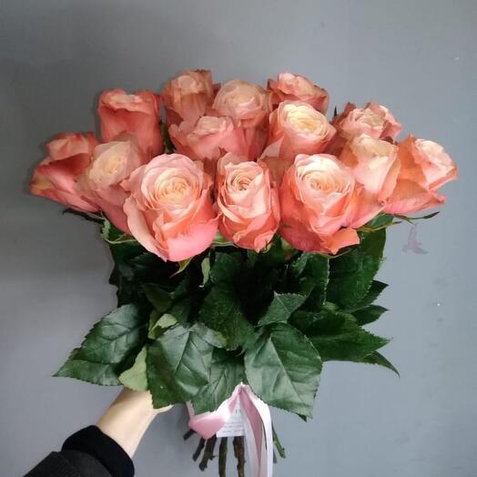 Монобукет 15 Роз сорта kahala 60см