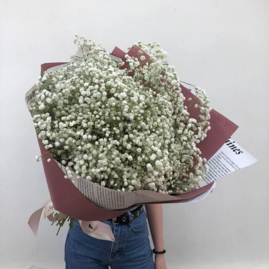 Bouquet Of Snow-White Gypsophila