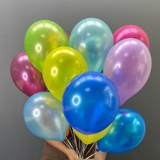 11 гелиевых шаров микс