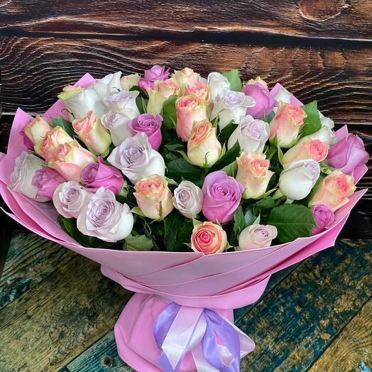 51 Роза микс 35 см