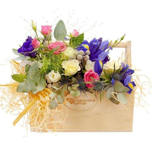 Ящик с цветами Крыло ангела: букеты цветов на заказ Flowwow