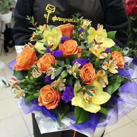 Разноцветное облако: букеты цветов на заказ Flowwow