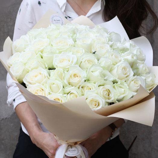 Букет из роз Аваланж 0932: букеты цветов на заказ Flowwow