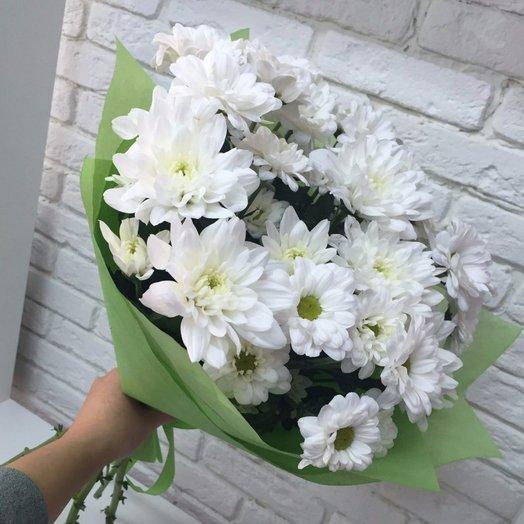 Букет белых кустовых хризантем: букеты цветов на заказ Flowwow
