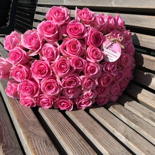 51 роза нежности: букеты цветов на заказ Flowwow