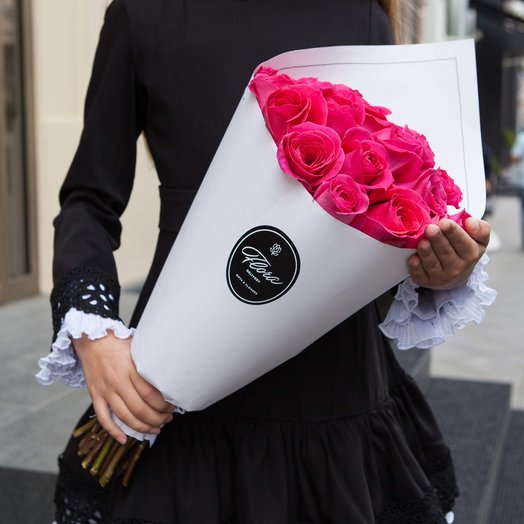 25 розовых роз Pink Floyd WHITE