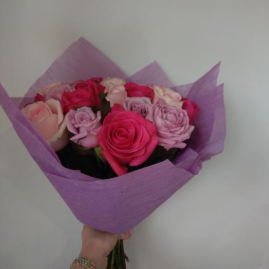 Ассорти из 21 розы: букеты цветов на заказ Flowwow
