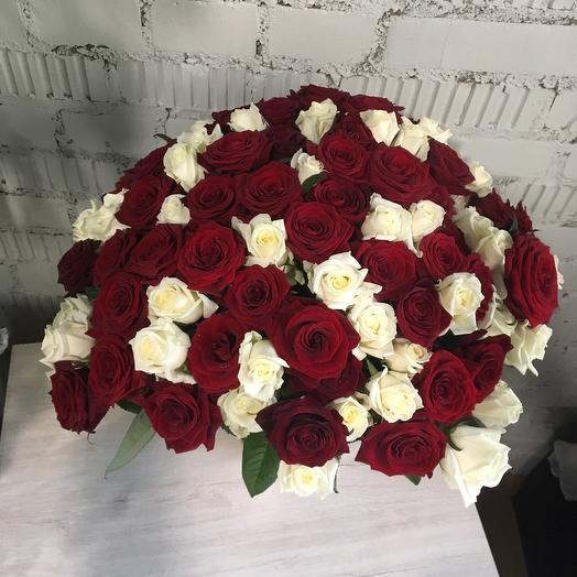 Букет роз 101: букеты цветов на заказ Flowwow