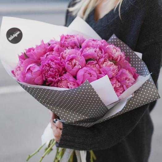 Букет из пионов сорта Александр Флеминг: букеты цветов на заказ Flowwow