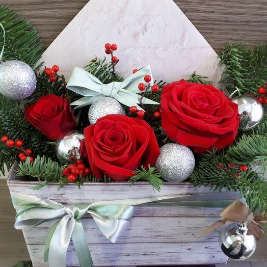 """Композиция """"Рождественское чудо"""": букеты цветов на заказ Flowwow"""