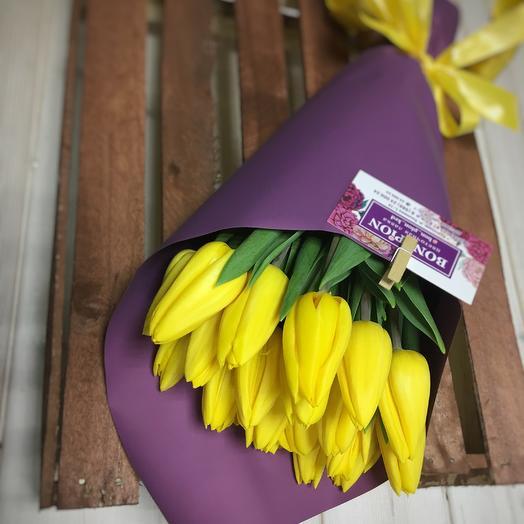 """""""Смородинка """" 21 тюльпан: букеты цветов на заказ Flowwow"""