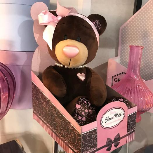 Мягкая игрушка Choco Milk сидячая, 25см: букеты цветов на заказ Flowwow