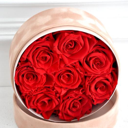 Букет из вечных роз (размер M): букеты цветов на заказ Flowwow