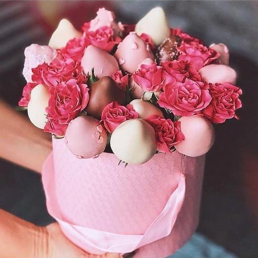 Сладкий букет «Розочка»: букеты цветов на заказ Flowwow