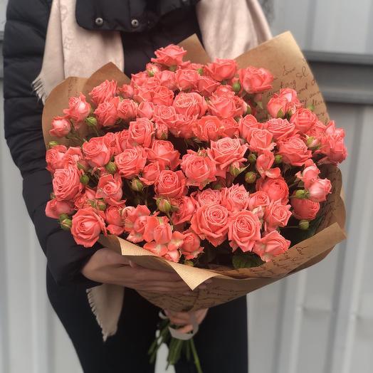 Букет из Розы «Барбадос»: букеты цветов на заказ Flowwow