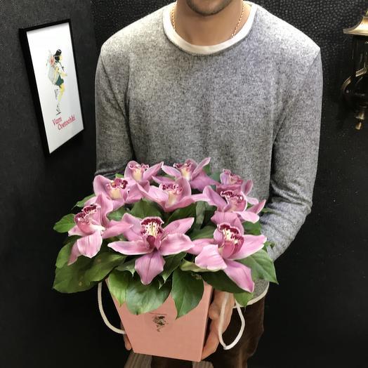 Розовая Орхидея: букеты цветов на заказ Flowwow