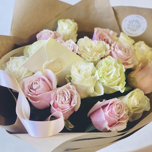 Нежный букетик 11 крупных роз: букеты цветов на заказ Flowwow