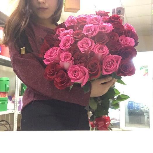 Роза 35 шт: букеты цветов на заказ Flowwow