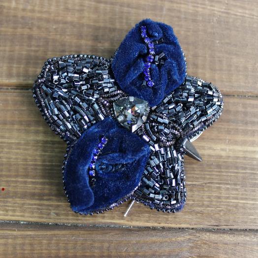 """Брошь """"Синий цветок"""": букеты цветов на заказ Flowwow"""