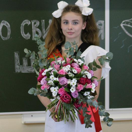 Букет для преподавателя 2: букеты цветов на заказ Flowwow