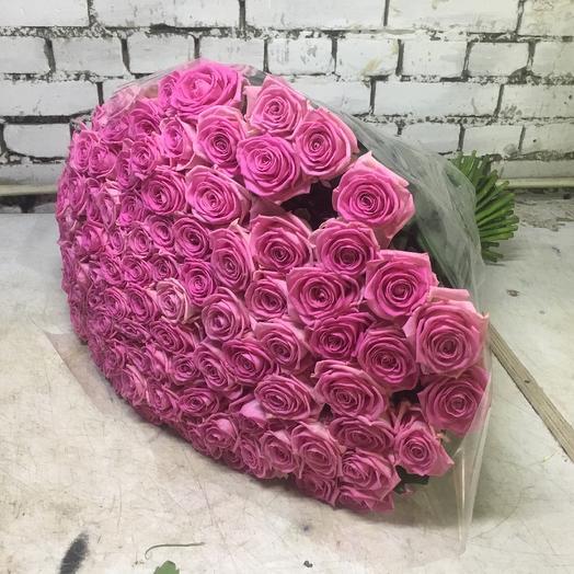 101 роза пинк: букеты цветов на заказ Flowwow