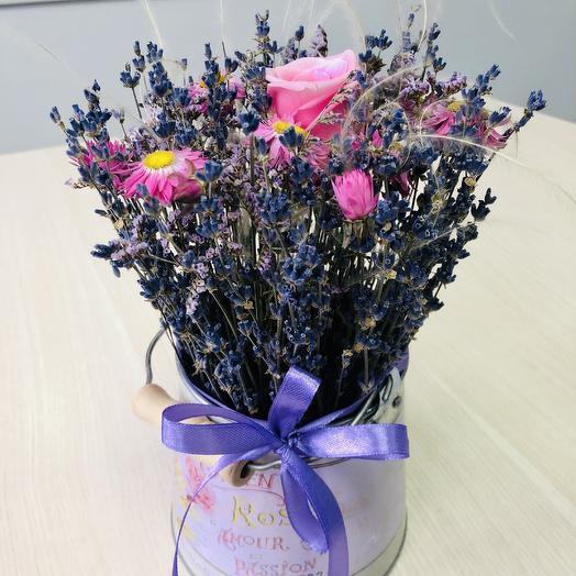 Лаванда в ведёрке Прованс: букеты цветов на заказ Flowwow