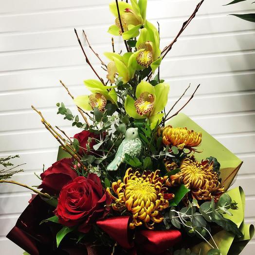 Птичка певчая: букеты цветов на заказ Flowwow