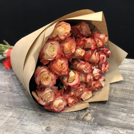 25 роз Cabaret Craft Premium: букеты цветов на заказ Flowwow