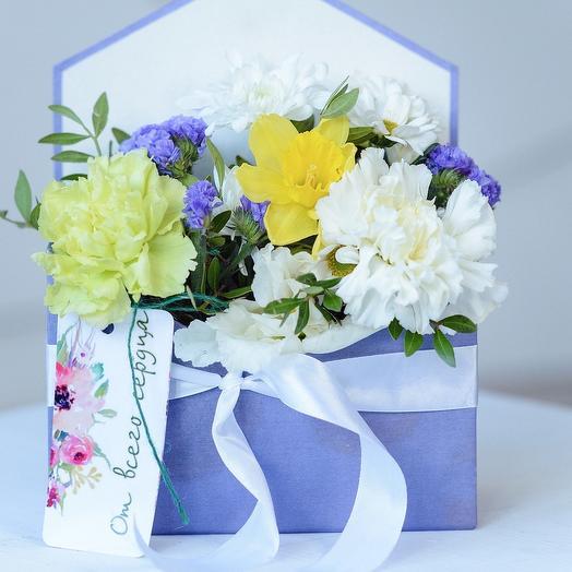 Конверт-весна «Сирень расцвела!»: букеты цветов на заказ Flowwow