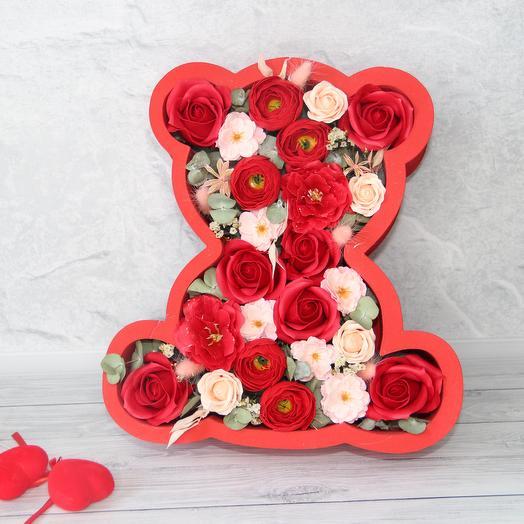 "Композиция ""Мишка"": букеты цветов на заказ Flowwow"
