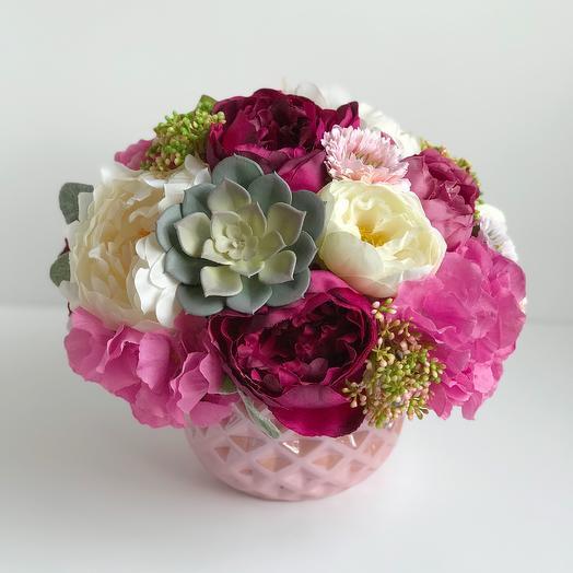 Композиция Малиновое варенье: букеты цветов на заказ Flowwow
