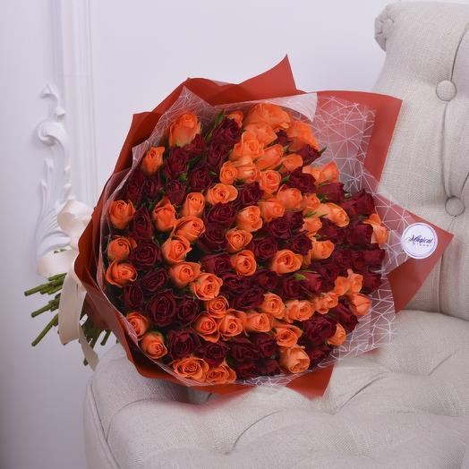 Букет Микс из 101 Розы