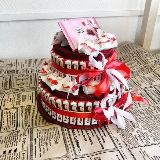 Kinder торт 🍫: букеты цветов на заказ Flowwow
