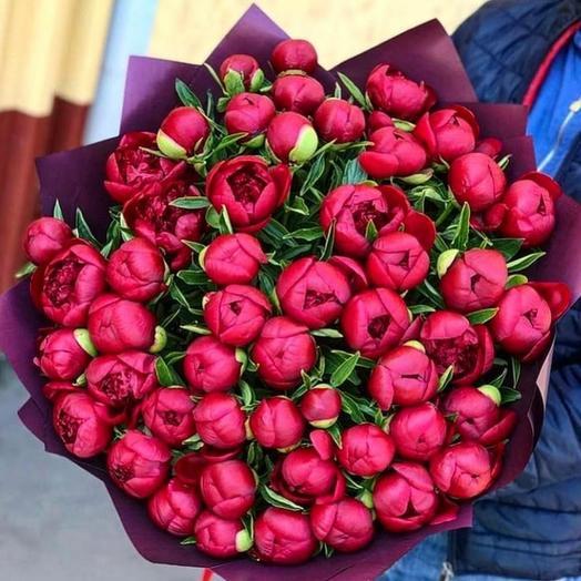 51 Винный пион: букеты цветов на заказ Flowwow