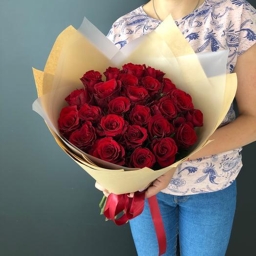 Lady Flowers - 25 роз в оформлении