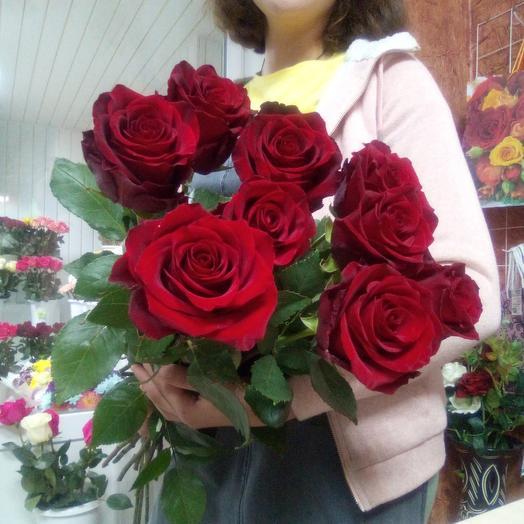 9 бархатных роз 😍