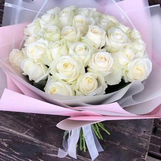 Букет Bouquet of white roses Tenderness 💐