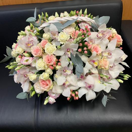 Авторская Корзина с орхидеями