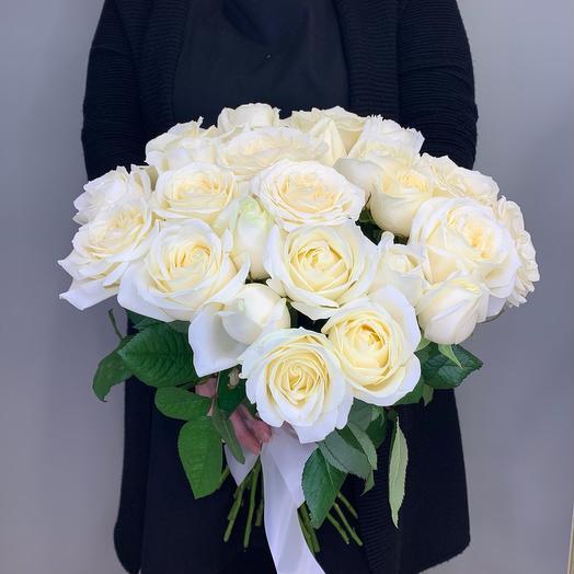 25 Роза белая 50 см